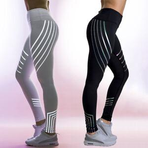 9fd2b9d21523b Image is loading Women-039-s-Rainbow-Reflective-Glow-Leggings-Yoga-