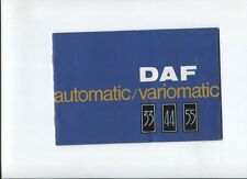 N°3726 / catalogue DAF  automatic / variomatic   type 33 :  44  : 55  // 09-1968