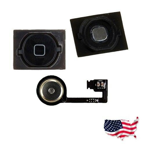 New Replacement home menu button Key with Flex Cable For iPhone 4S Black