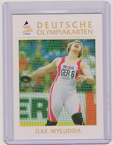 1996 DEUTSCHE OLYMPIAKARTEN ~ ILKE WYLUDDA OLYMPIC CARD #85 ~ DISCUS