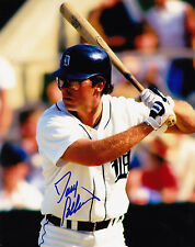 DAVE COLLINS  DETROIT TIGERS   ACTION SIGNED 8x10