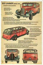 Red Jammer, Glacier National Park MT Car Auto, Construction - Technical Postcard