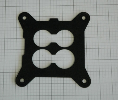 """HOLLEY 100-18 INSULATING 1//8/"""" SPACER-GASKET INTAKE TO CARB 1 3//4/"""" /& 1 5//8/"""" BORES"""
