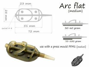 Life-Orange-Feeder-Arc-Flat-Futterkorb-30-g-100-g-Feederfischen-Feedern