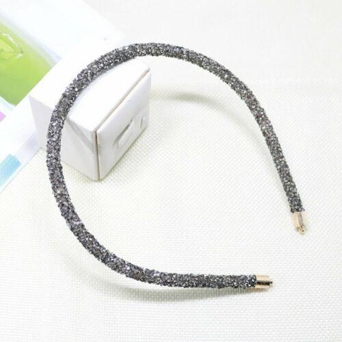 Korea Crystal Soft Headband for Women Rhinestone Hairband Beads Hair Accessories