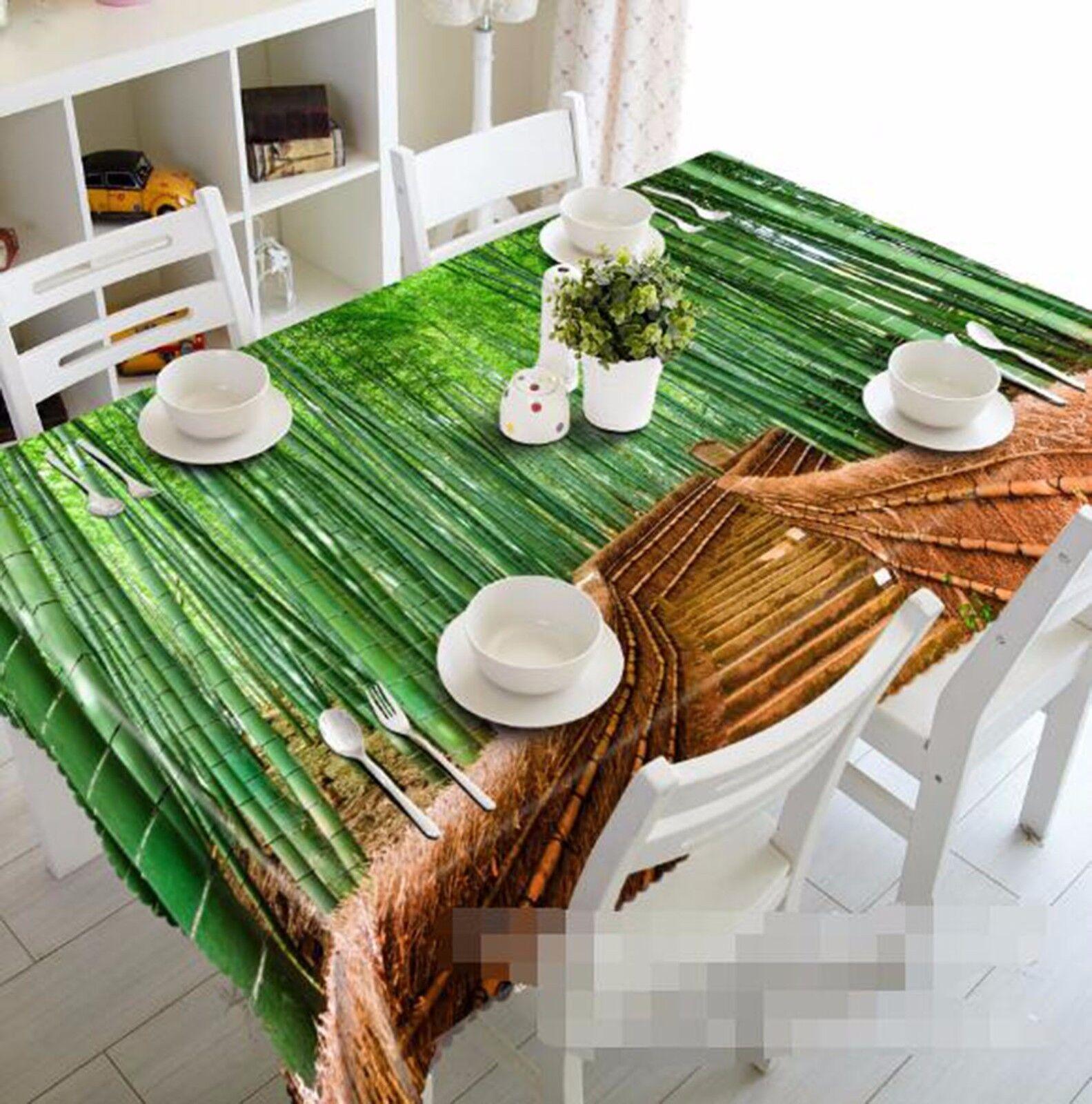 3D Bamboo 63 Nappe Table Cover Cloth fête d'anniversaire AJ papier peint Royaume-Uni Citron