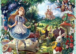 Image Is Loading ALICE IN WONDERLAND ANIME WALL ART ONE PIECE