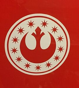 New Republic Logo Vinyl Decal Sticker Star Wars White