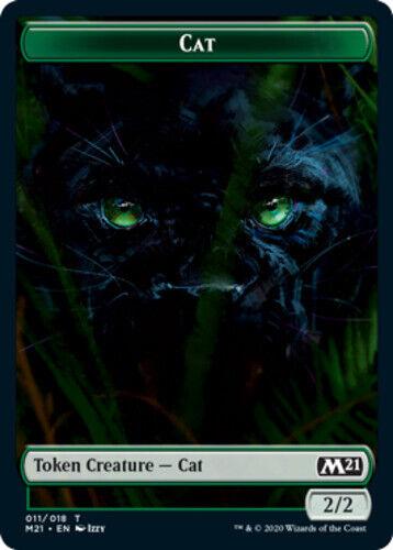 English 011 Magic Core Set 2021 Magic Core Set 202 x4 Cat Token NM-Mint