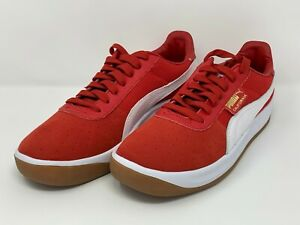 puma  california  casual shoes  men  red leather