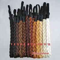 Plaited Synthetic Hair Hairband - Elastiic Head Braided Plait Extensions Band