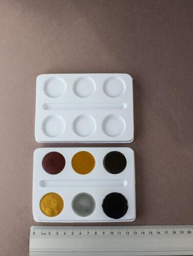 10 x Einsatz Farbkasten Malkasten leer Farbtabletten PVC 10 x 13,5 cm Pinselfach