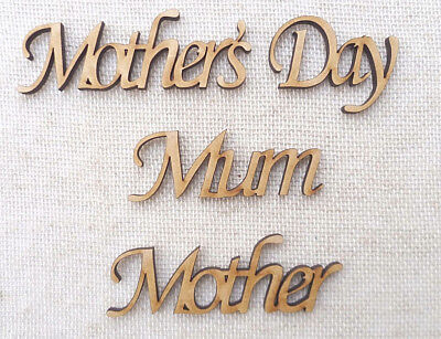 Nanny Wooden MDF Words Craft Names Mother/'s Father/'s Day Family Tree Wedding