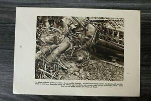 AA-Blatt-1-WK-1914-18-Luftkampf-Abgestuerzt-Englisches-Flugzeug-Aviatik-1920er