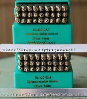 Supply Guy 3mm Angelina - Posh Font Metal Stamp Letter Set