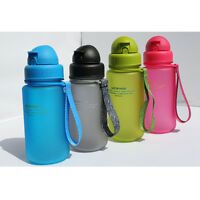 400ml Baby's Child's Water Bottle Cup Kids Bottle Bpa Free With Silicon Straw