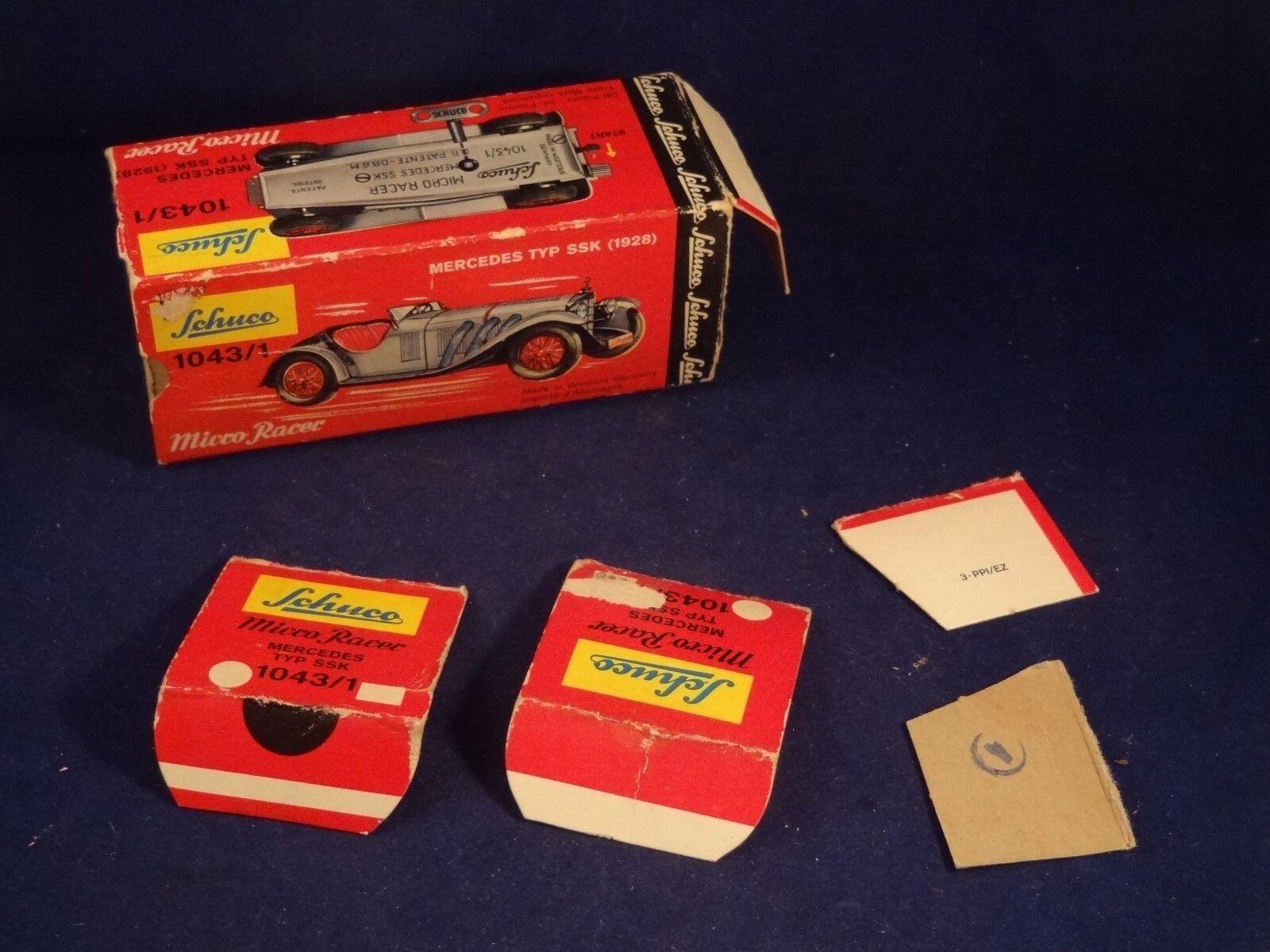 Ancienne voiture mécanique mécanique mécanique Mercedes SSK 1928 Micro Racer SCHUCO W.GERMANY 1950   Outlet Store    Pas Chers    Le Moins Cher  2ac85a