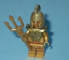 ATLANTIS Lego Temple Statue Poseidon Gold w/Trident NEW Genuine Lego 7985