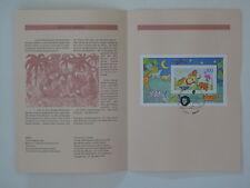 (95j34) Bund Erinnerungsblatt 1995 mit ESST Mi.Nr. Block 34 Für uns Kinder