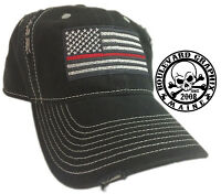 Thin Red Line Hat Cap Fire Department , Fighter Support American Flag Man