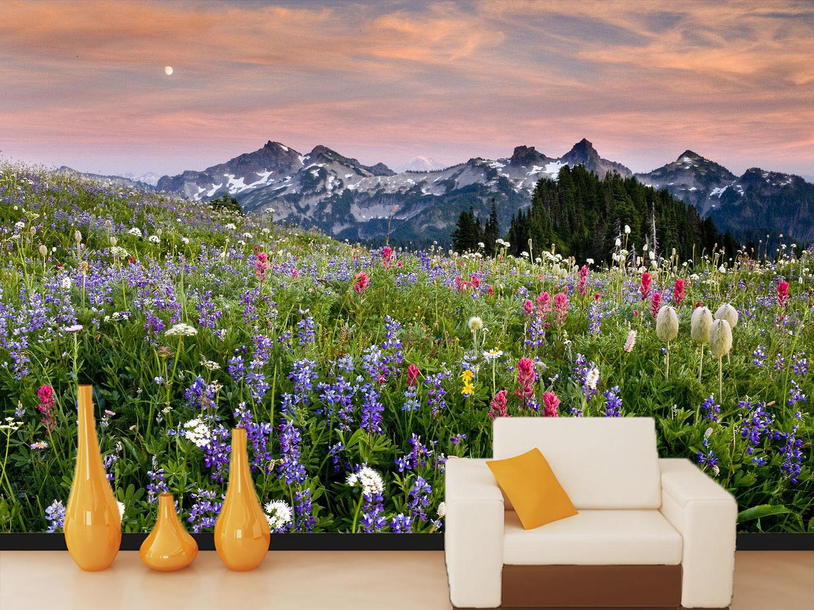 3D Schnee Berg Blaumenmeer 75 Tapete Wandgemälde Tapete Tapeten Bild Bild Bild Familie DE | Fuxin  43c5ef