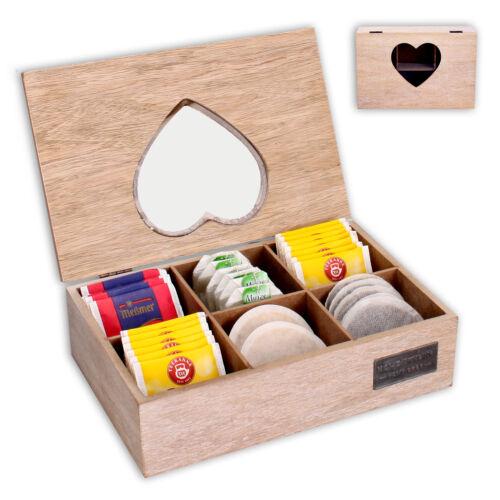 Teebox Teekiste Teekistchen Teekästchen Teebeutelbox Teebeutelkiste Bambus Holz