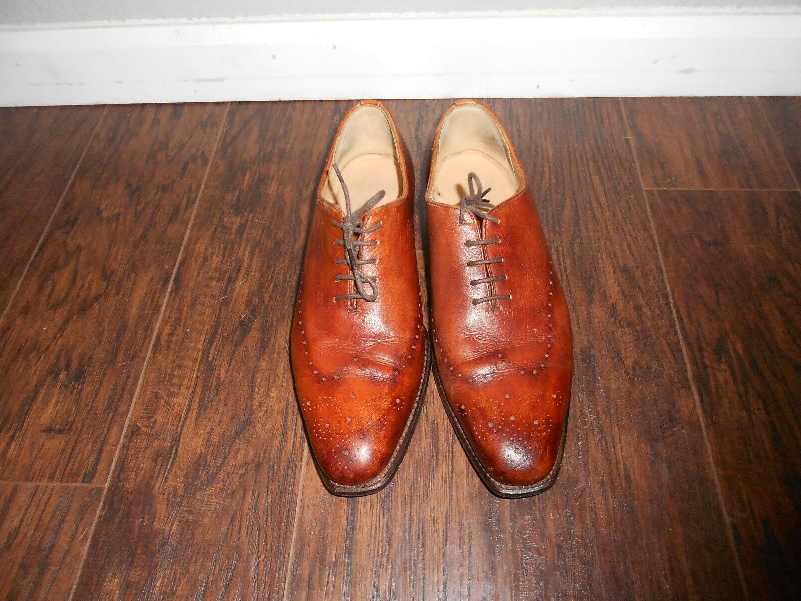ED Et Al shoesmakers Men's Professional Dress shoes size 42 Brown
