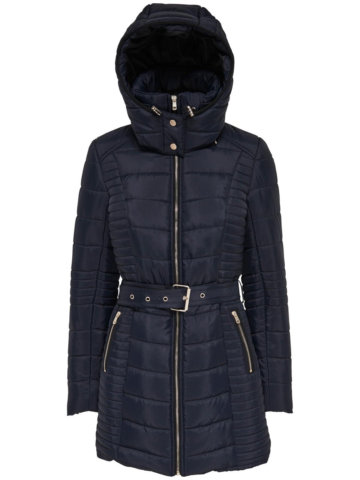 ONLY Damen Winterjacke Stepp-Jacke Mantel onlADRIATIC LONG NYLON COAT Gürtel NEU