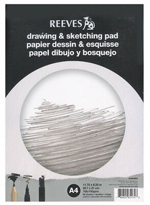 Reeves Artists Drawing & Sketching Cartridge Paper Pad - 150g - 50 Sheets - A4