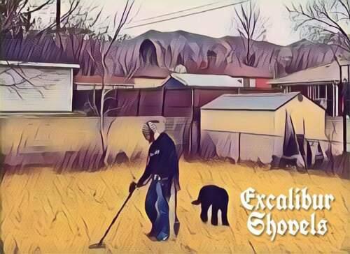 Excalibur Metal Detecting Shovel Hand Digger Digging Tool Serrated Edges