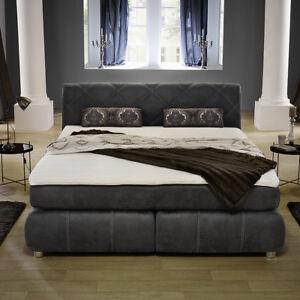 Das Bild Wird Geladen Boxspringbett Rebecca Schlafzimmer Bett  Doppelbett Antik Grau Mit