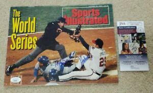 John Smoltz Roberto Alomar Signed 1992 Sports Illustrated Braves JSA COA