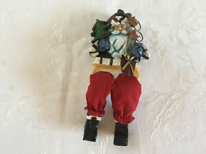 Christmas Shelf Sitter Resin Dangling Legs Santa Ebay
