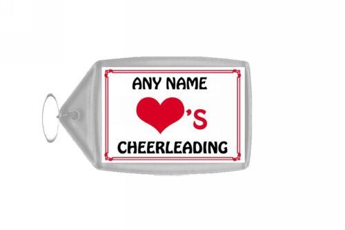 Love coeur porte-clés personnalisé cheerleading