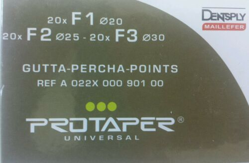 Protaper Universal F1-F3 Assorted Gutta Percha Points Dentsply Tulsa Box of 60