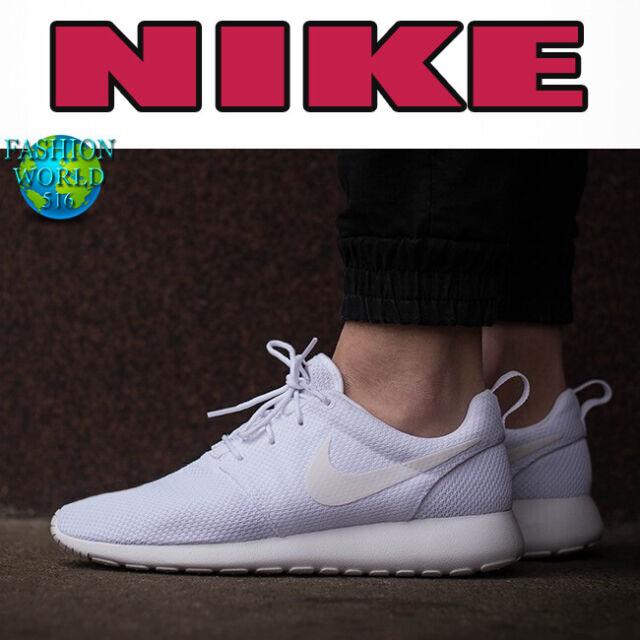 Nike Men/'s Roshe One White//White 511881-112 Sz 8 9 9.5