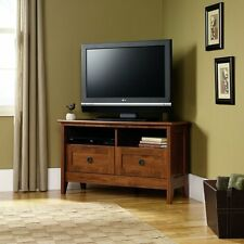 Corner TV Media Stand Entertainment Console Wood Furniture Storage Cabinet Home