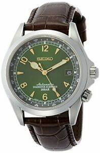 Seiko-Alpinist-Automatic-Movement-Green-Dial-Men-039-s-Watches-SARB017