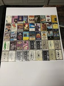 Lot Of 45 Cassette Tapes Mexican-Spanish Bands (HARD TO FIND (RARE?)**