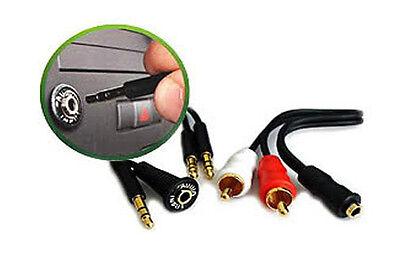 AUX Dash Mount Kit 3.5mm Audio Input Kit IS335 ipod RCA Simple Jack Adaptor