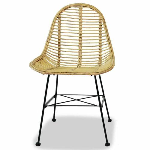 vidaXL Dining Chairs 4 pcs Natural Rattan