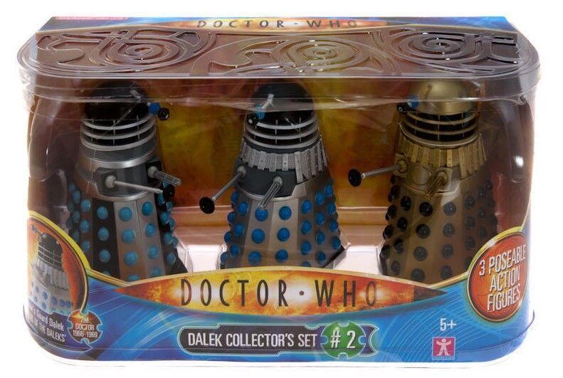 Doctor Who Dalek Collectors Set  2 Saucer, Emperor, Supreme Brand New Mint @