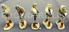 "Vintage Star Wars Micro Collection 5 1.25"" Die Cast Figurine Hoth Rebel Troopers"
