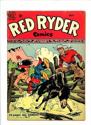 """Issue #82 Useful 1950 Dell Comics """"red Ryder Comics"""" Fred Harman Cover Art Good."""