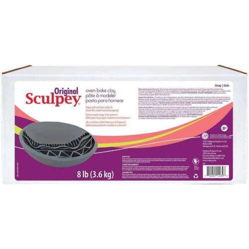 Arcilla polimérica Sculpey Original 8lb Gris 715891112397