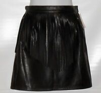 Divided H&m Ladies Faux Leather Fringe Mini Skirt Black Four (4)