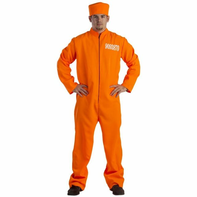 Dress up America Prisoner Costume For Adults - Pretendplay Dressup Outfit