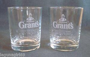 2-Grant-039-s-Scotch-Whisky-100-Year-Anniversary-Glasses-Pub-Bar-Grants-Whiskey