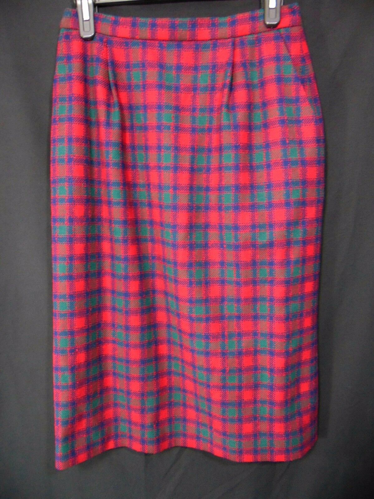 PENDLETON Recent Women's Classic Straight Skirt Sz 8 Plaid Lined Red Green bluee