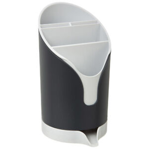 Practical-cutlery-cutlery-holder-in-grey-and-white-cutlery-dryer-drip-machine